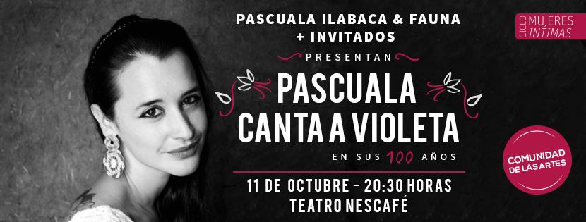 Pascuala Ilabaca canta a Violeta en sus 100 años en Nescafé de las Artes