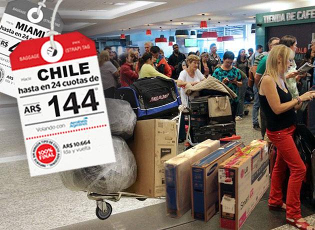 Sorprenden a ministro de Argentina comprando televisores en Chile