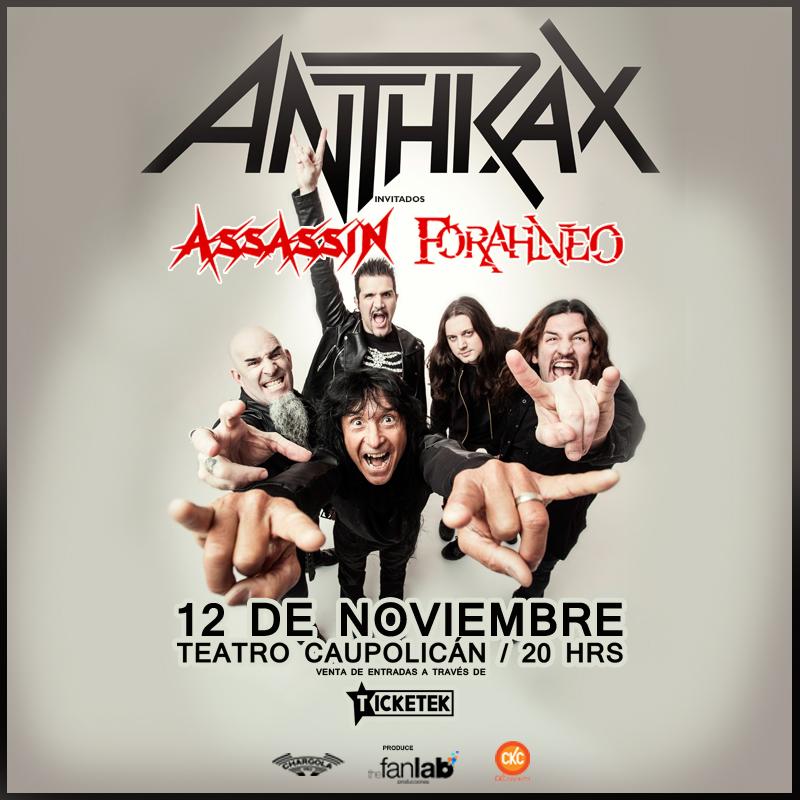 Anthrax suma a Asassin y Forahneo