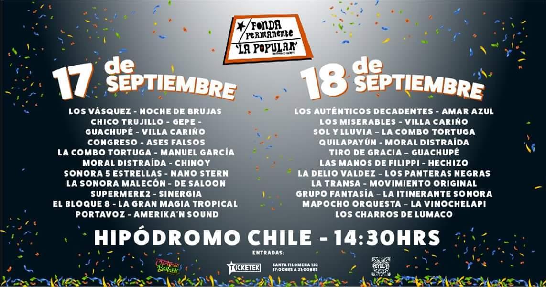Fonda Permanente en las fiestas patrias en Hipódromo Chile