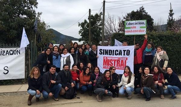 Las Cabras: Sindicato del Colegio Mistral cumple 73 días en huelga