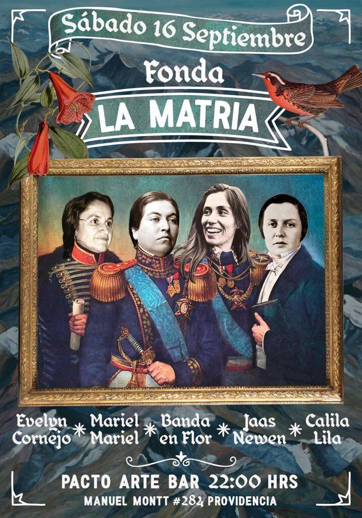No te pierdas este 16 de septiembre la Fonda La Matria