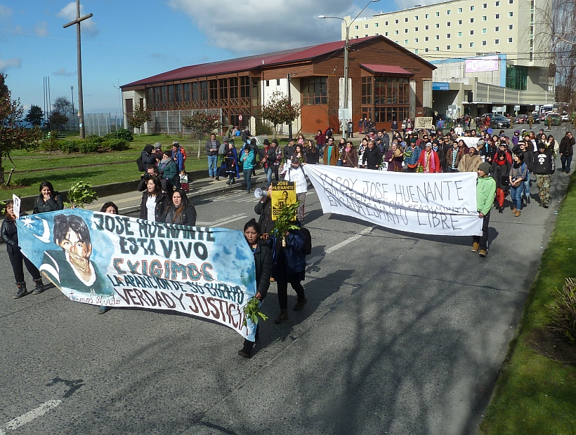 Puerto Montt: Familiares marcharon exigiendo justicia a 12 años de la desaparición de José Huenante