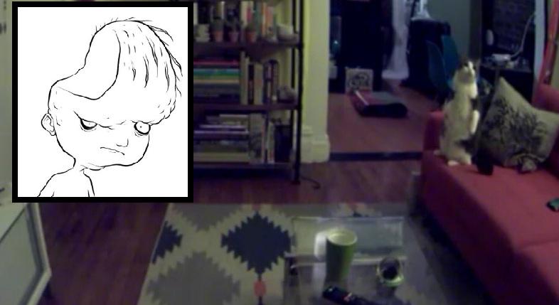 Lo persigue el fantasma de un niño llamado Dear David… El video en que mueve los objetos de su departamento es espantoso