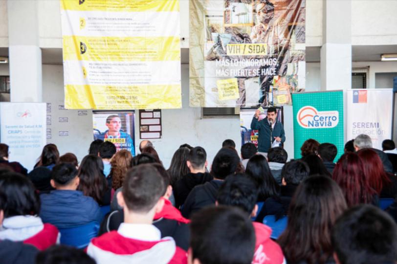 Cerro Navia lanzó campaña inclusiva sobre la Prevención del VIH/SIDA