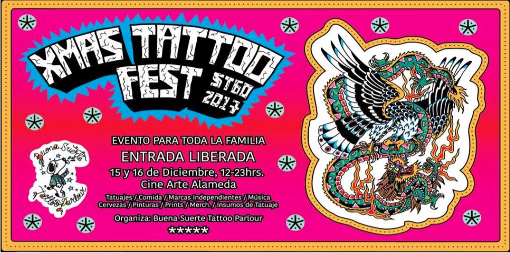 Xmass Tattoo Fest Stgo 2017 en Centro Arte Alameda