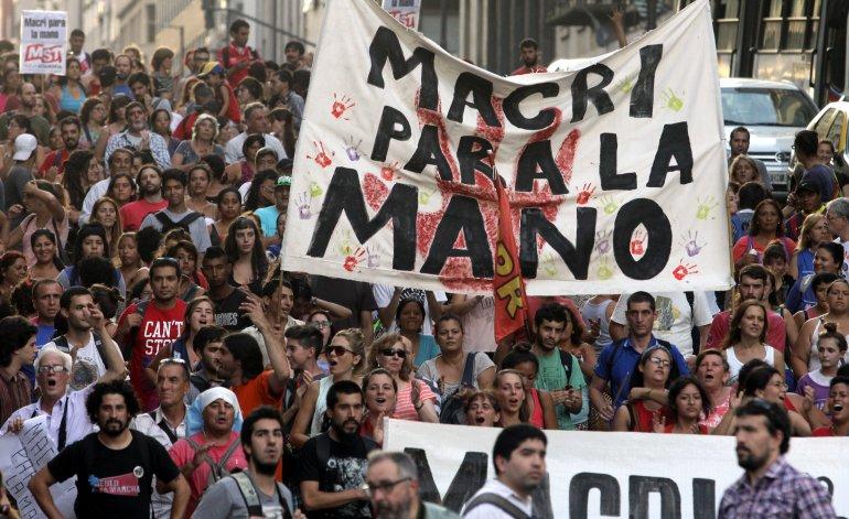 Argentina: día de protestas contra las políticas de Mauricio Macri