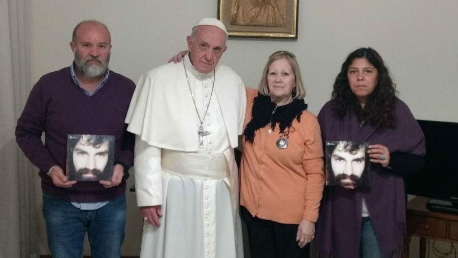 Argentina: el Papa Francisco recibió a la familia de Santiago Maldonado