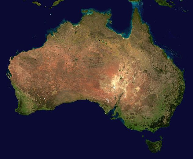 Una parte de Australia habría estado unida a Canadá hace millones de años
