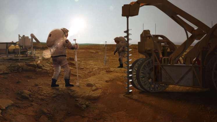 Encuentran grandes y accesibles cantidades de agua en Marte