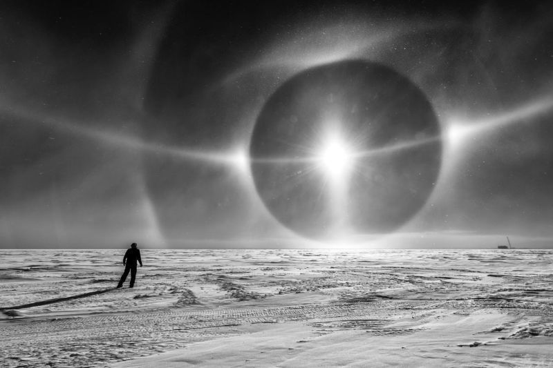 Increíble fenómeno hace ver el cielo de la Antártida como salido de una película de ciencia ficción