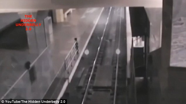 Difunden video de 'tren fantasma' en una estación