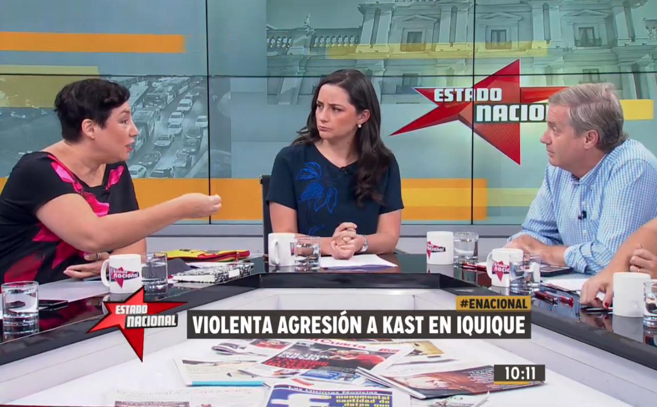 Beatriz Sánchez interpela en vivo a Kast: «No he visto que saques la voz en otros temas de violencia, sobre todo en nuestra historia reciente»