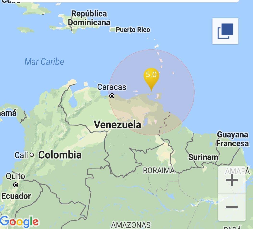 Se reportó temblor al noroeste de Venezuela
