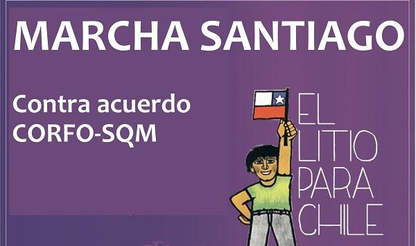 Litio para Chile convoca a una movilización este jueves 22 contra el acuerdo CORFO-SQM