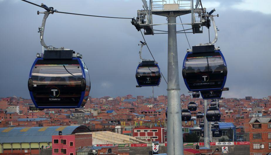 Inaugurada nueva línea del teleférico en La Paz