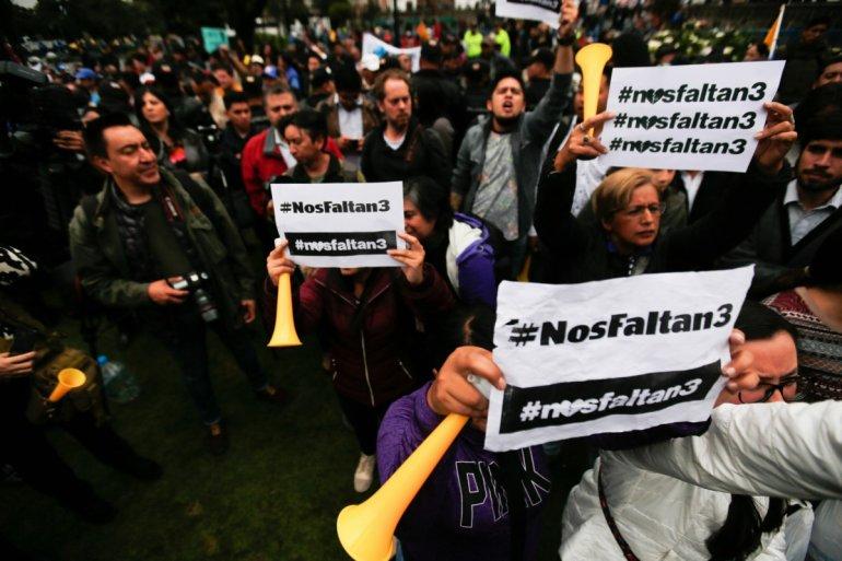 Ecuador declara cuatro días de luto nacional por asesinato de periodistas