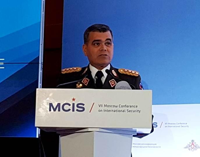 Ministro de Defensa venezolano denuncia  en Moscú plan para fracturar orden interno
