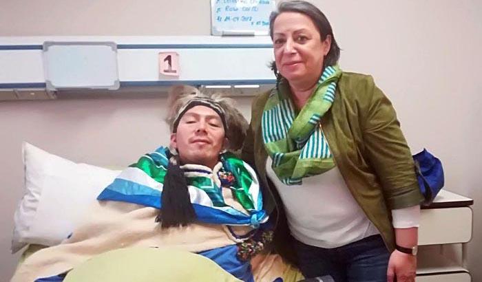 Nueva Imperial: Directora del INDH realiza visita humanitaria al machi Celestino Córdova