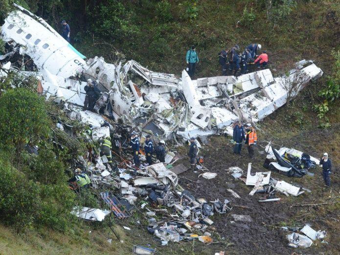 El avión Chapecoense se cayó por falta de gasolina