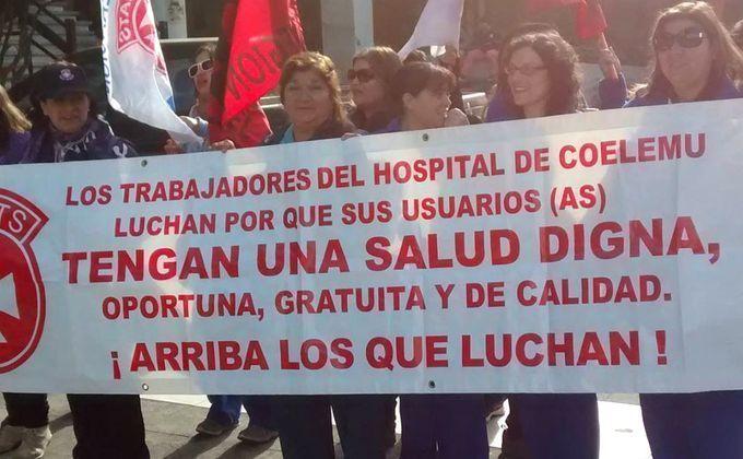 Funcionarios del Hospital de Coelemu anuncian paro por «insostenible» falta de personal, equipamiento e infraestructura