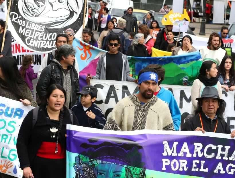 Marcha Plurinacional por el Agua y los Territorios recorrió las calles de Temuco, Cabildo y Panguipulli