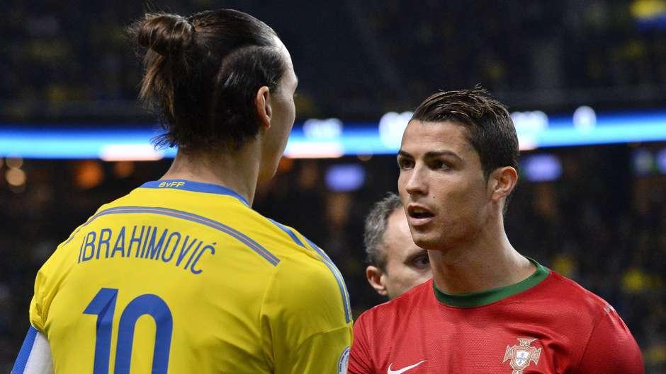 """VIDEO: Zlatan desafía a Cristiano a hacer un gol """"de chilena"""" pero a distancia"""