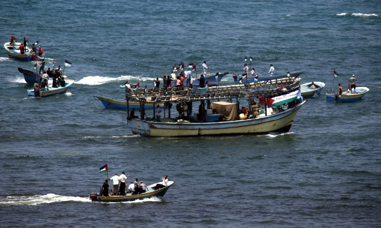 Barcos palestinos zarpan de Gaza para denunciar bloqueo israelí