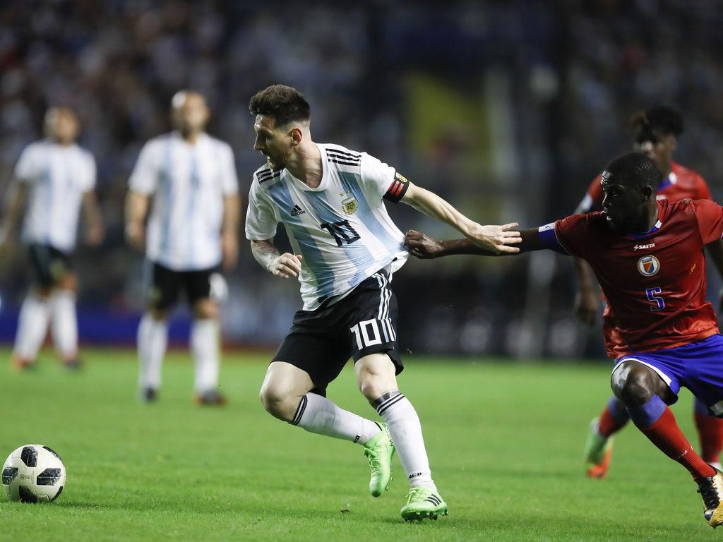 Argentina goleó a Haití con tres de Messi (Videos)