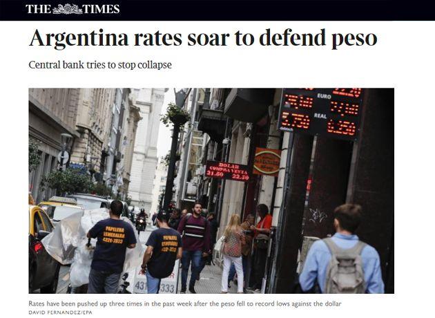 Prensa británica alerta sobre posible crisis en mercados emergentes por Argentina