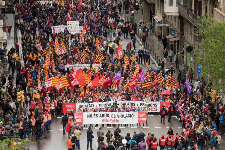 En Europa la clase obrera marcha por una justicia salarial