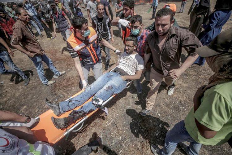 Ascienden a 60 los muertos en Gaza en protestas contra Embajada de EE.UU