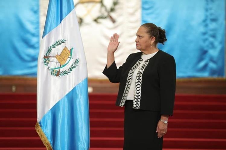 María Porras ha sido nombrada nueva fiscal general de Guatemala