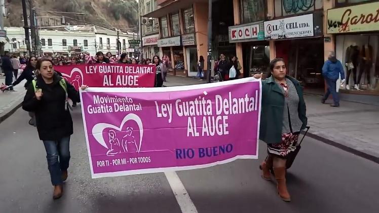 La lucha del 'Movimiento Ley Guatita de Delantal' por incluir sus demandas en el AUGE
