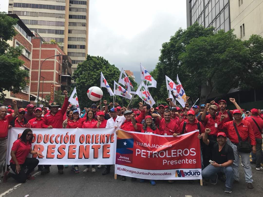 Movilización del Día del Trabajador en Venezuela entre alegría y entusiasmo