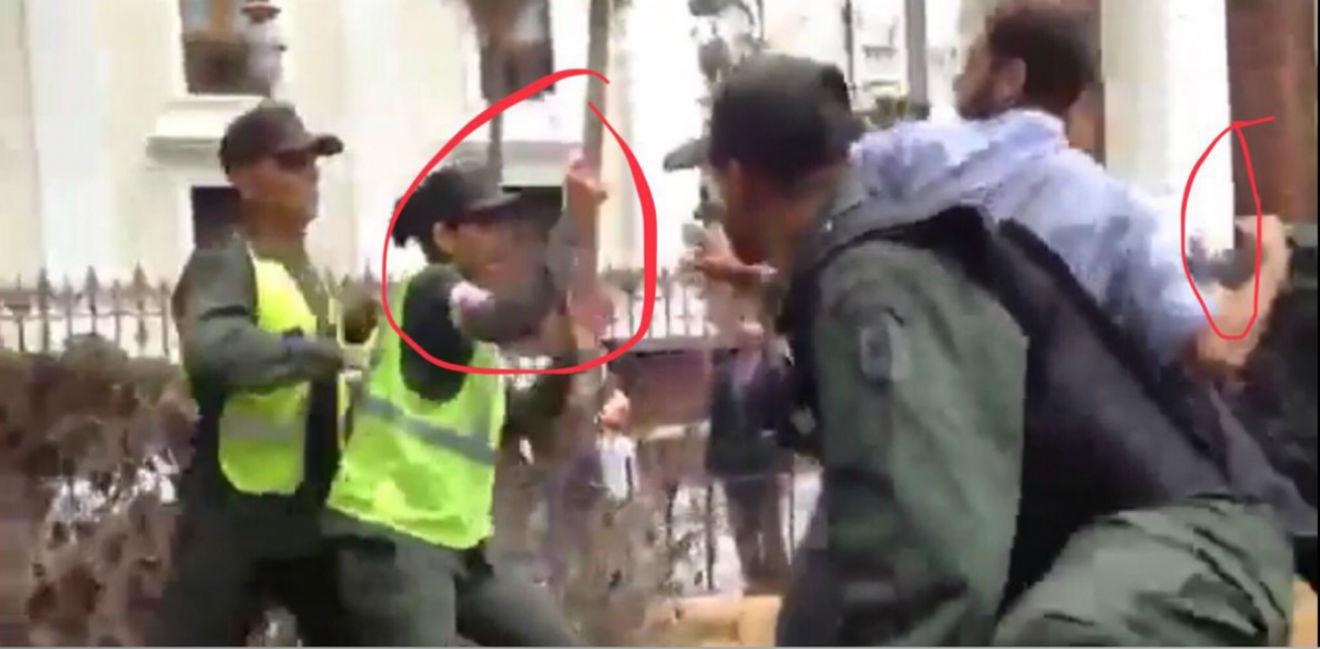 Ataque de diputado venezolano contra una guardia causó repudio en las redes