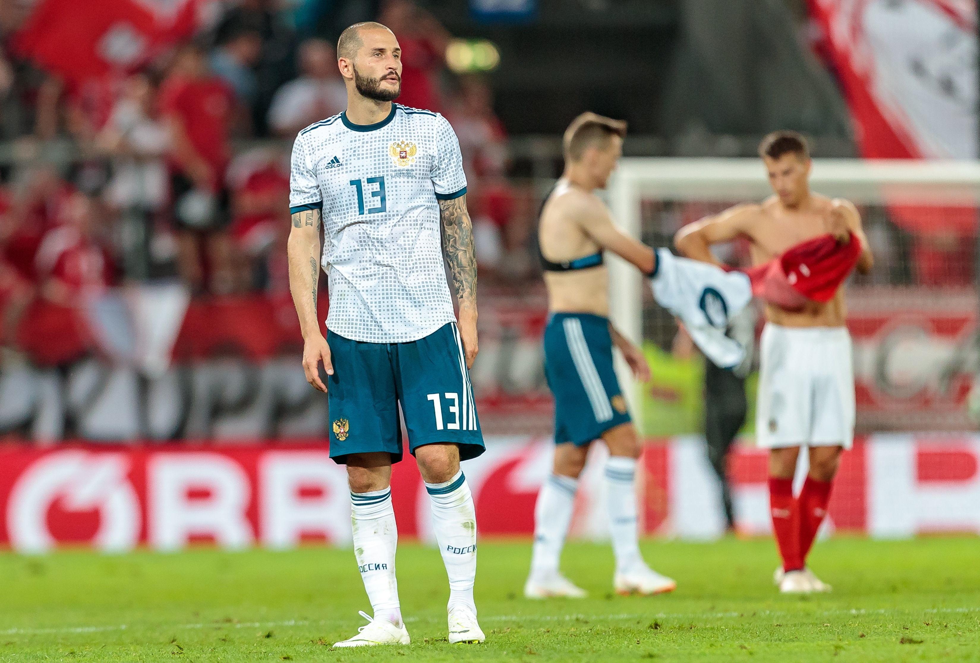 Rusia vs Austria partido de preparación