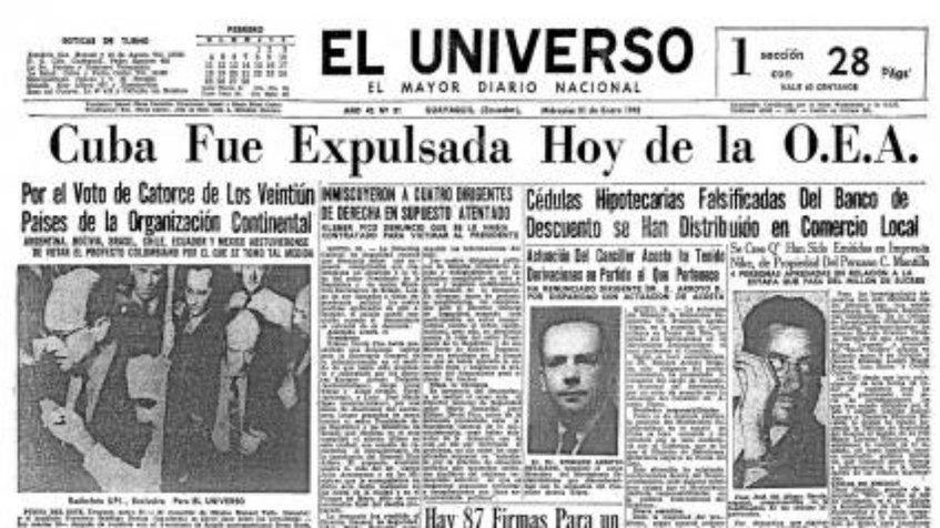 De cuando EEUU presionó para expulsar a Cuba de la OEA