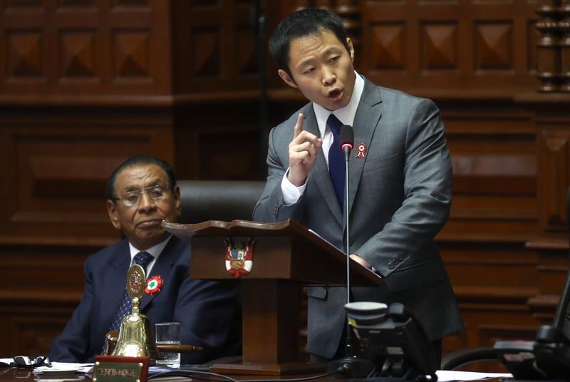 Hijo de Fujimori podría ser desaforado en el Congreso peruano