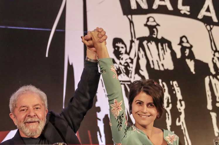 Lula Da Silva y Manuela Dávila