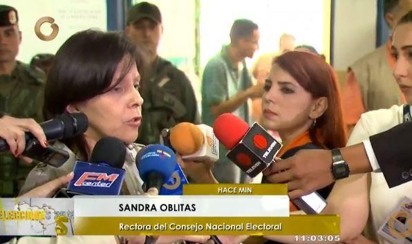Venezuela elecciones 2018| Sandra Oblitas: «Constituidas el 100% de las mesas electorales en todo el país»
