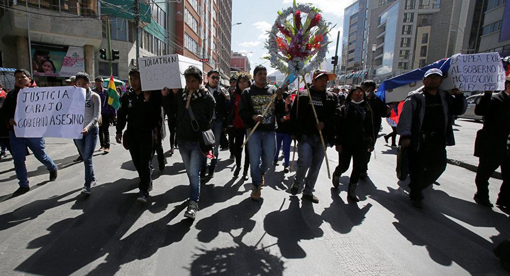 Estudiantes anuncian agudización de protestas en Bolivia