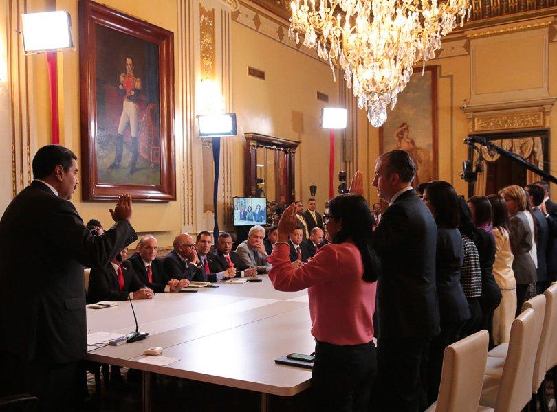 Maduro asignó funciones y metas específicas a sus nuevos ministros