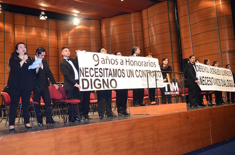 Justo antes de iniciar una presentación: Músicos de la Orquesta Clásica del Maule denunciaron grave precariedad laboral