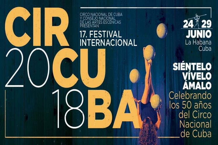 Artistas circenses se disputan premio en el XVII Festival Internacional Circuba 2018
