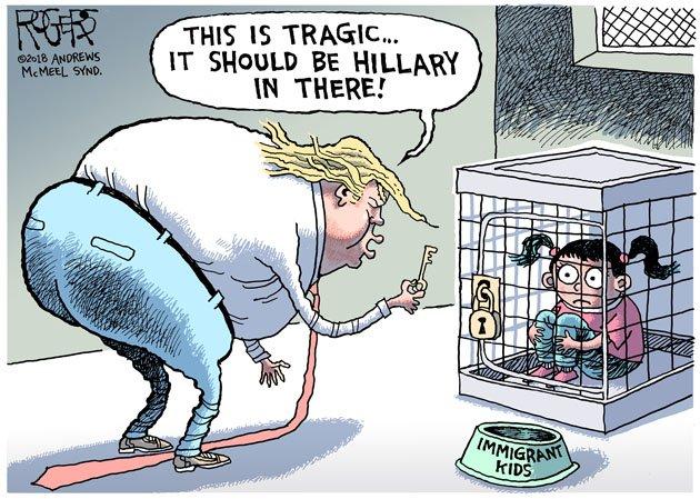 "Rob Rogers publicó su primera caricatura ""antiTrump"" en Twitter"