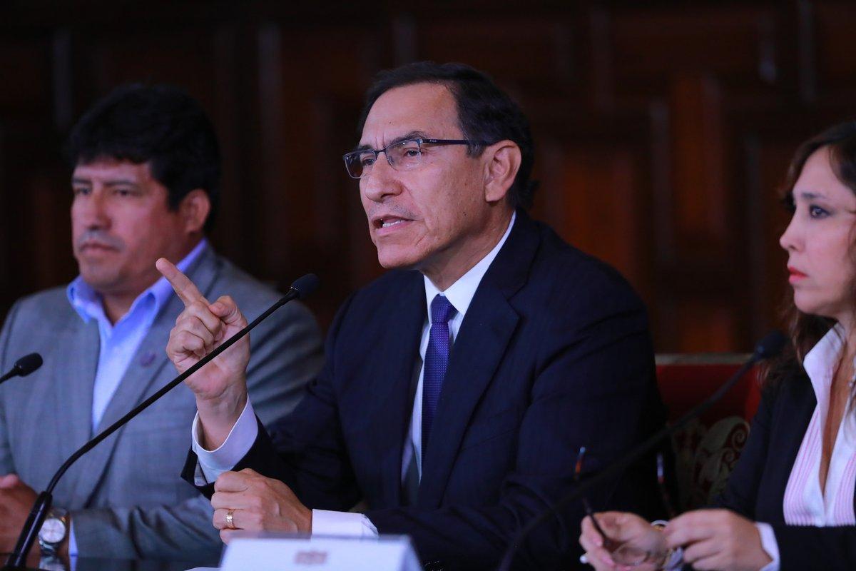 Congreso de Perú debatirá nuevamente moción de vacancia contra Vizcarra