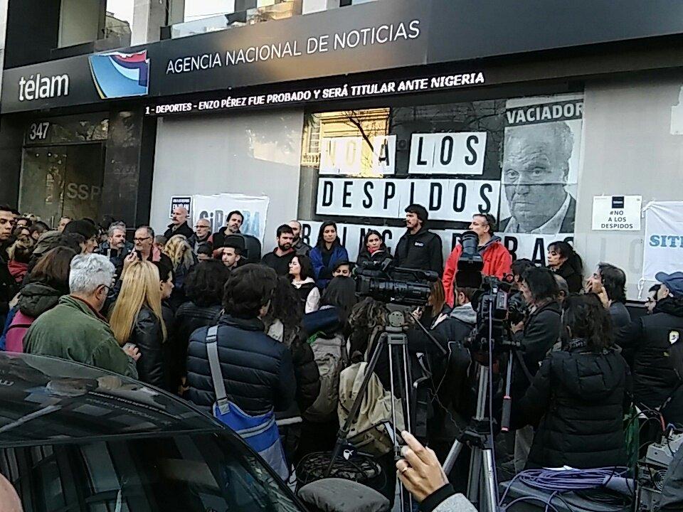 Gobierno de Macri admite persecución ideológica contra trabajadores de Télam