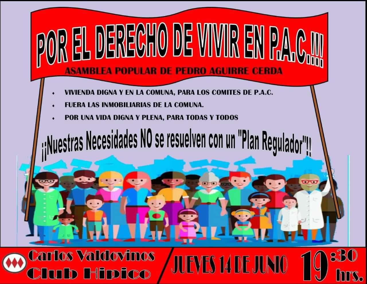 Vecinos y organizaciones de Pedro Aguirre Cerda convocan a marcha contra las inmobiliarias