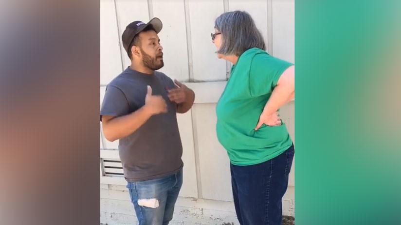 (+Video) Racismo en Estados Unidos: mujer ofende a mexicano y a su madre
